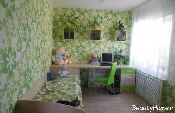 دکوراسیون اتاق خواب دخترانه کوچک
