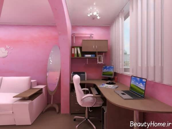 اتاق خواب صورتی