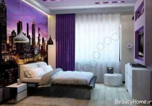 اتاق خواب دخترانه شیک و کوچک