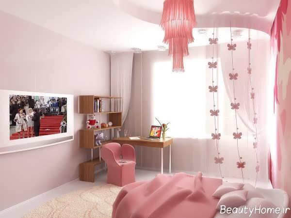 اتاق خواب دخترانه کوچک