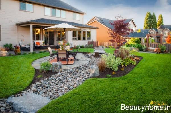 طراحی زیبا فضای سبز ویلا