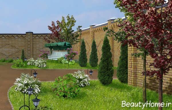 طراحی عالی محوطه خانه های ویلایی