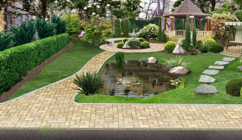 طراحی عالی فضای سبز خانه های ویلایی