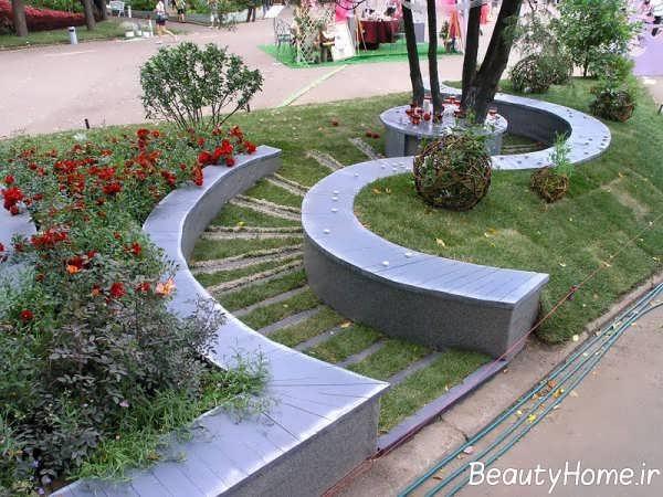طراحی مدرن فضای سبز خانه های ویلایی