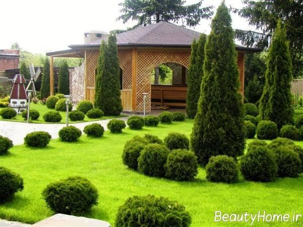 طراحی عالی فضای سبز ویلا