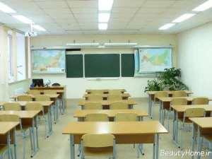 طراحی داخلی زیبا و شیک کلاس درس