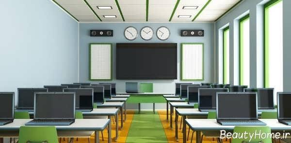طراحی دکوراسیون شیک و کاربردی کلاس درس