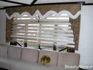 مدل پرده مدرن سالن پذیرایی
