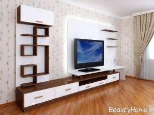 مدل میز تلویزیون به همراه دکور