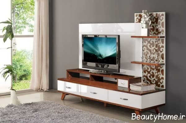 دکور زیبای میز تلویزیون