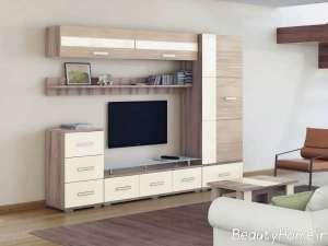 میز تلویزیون قفسه ای