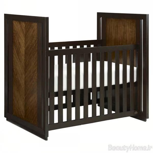 طراحی چوبی تخت خواب نوزاد