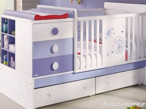 دیزاین زیبای تخت خواب نوزاد