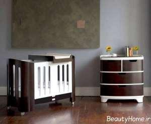 طراحی لاکچری تخت خواب نوزاد