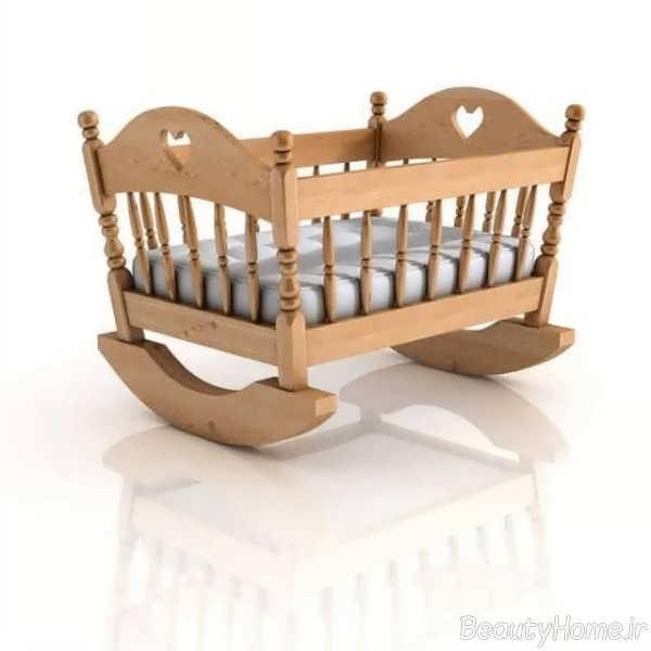 طراحی تخت خواب نوزاد با مدل گهواره ای