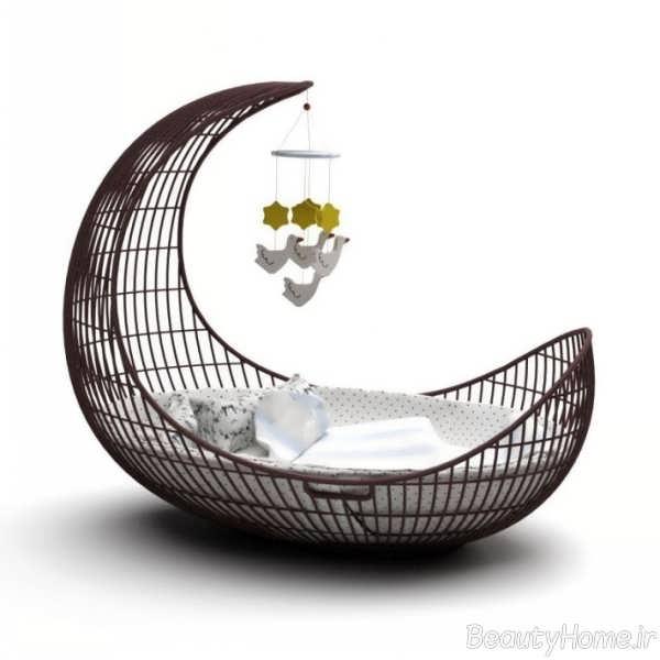 طراحی شیک تخت خواب نوزاد