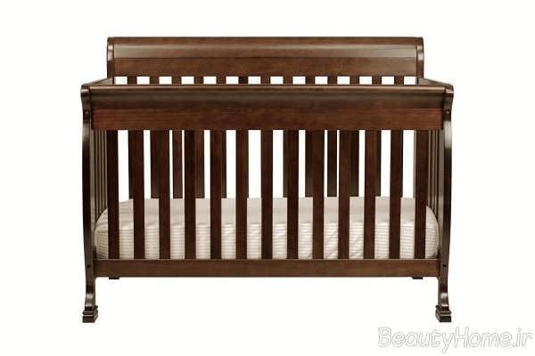 طرح چوبی تخت خواب نوزاد