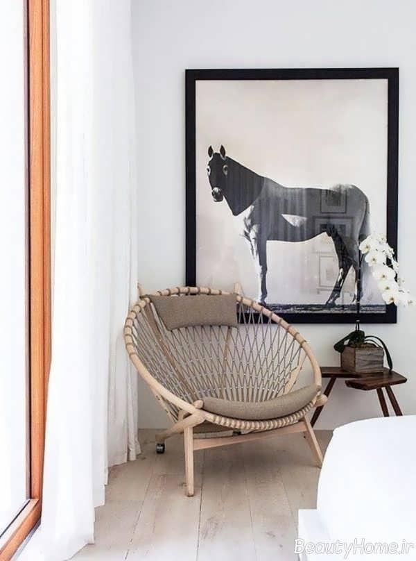 طراحی صندلی چوبی اتاق خواب