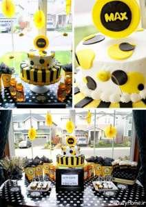 تزیین کیک تولد با تم زنبوری