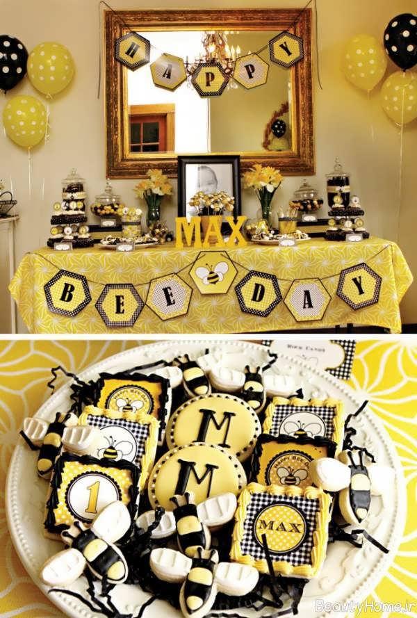 تزیین جشن تولد بچه گانه دخترانه