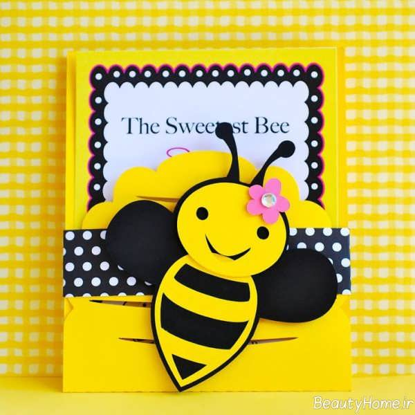 تزیین کارت دعوت با تم زنبوری