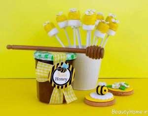 تزیین وسایل تولد با تم زنبوری