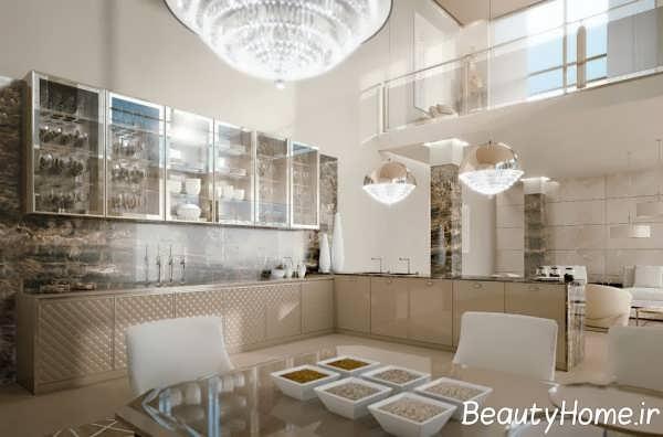 طراحی داخلی آشپزخانه کلاسیک و شیک