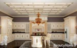 دیزاین سفید آشپزخانه