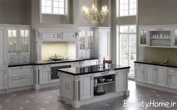 طراحی داخلی آشپزخانه کلاسیک