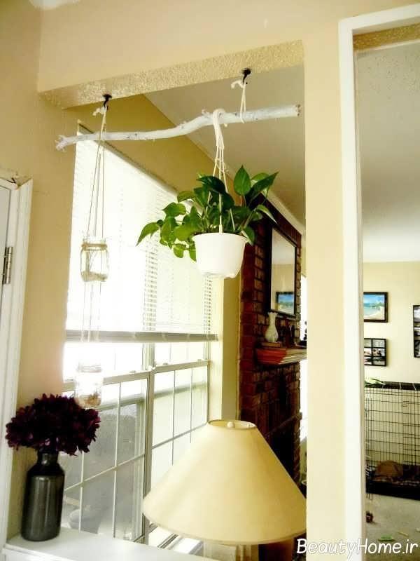 طراحی عالی فضای منزل با شاخه درخت