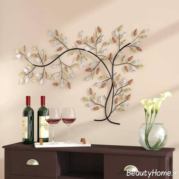دیزاین جالب اتاق با شاخه درخت