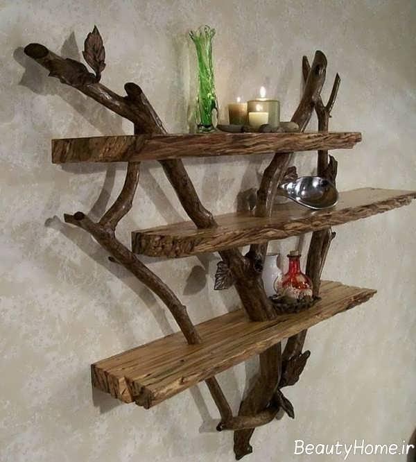 ساخت قفسه با شاخه درخت