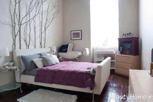طراحی ایده آل اتاق خواب با شاخه درخت