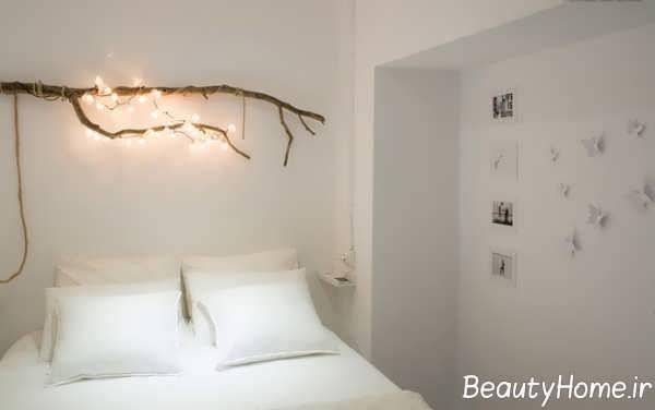 تزیین اتاق خواب با چوب درخت
