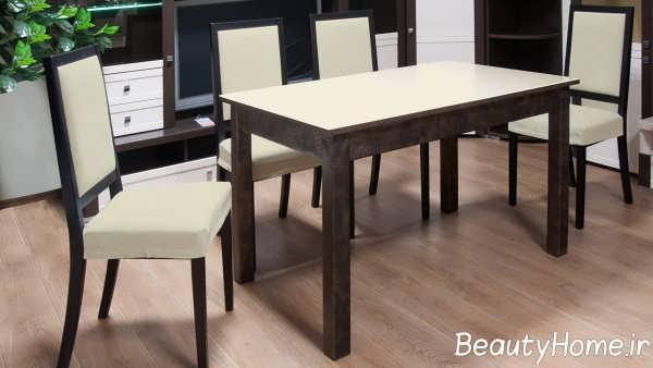 مدل میز ناهار خوری چوبی