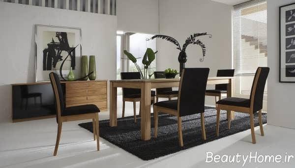مدل میز ناهار خوری 2018 چوبی و شیک