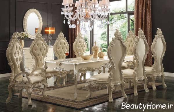 مدل میز ناهار خوری کلاسیک