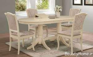 مدل میز غذا خوری لوکس و سفید