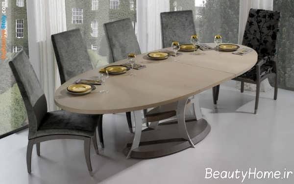 مدل زیبا و شیک میز ناهار خوری