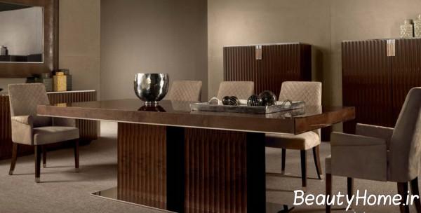 مدل میز ناهار خوری قهوه ای