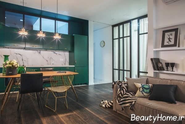 دکوراسیون منزل با رنگ سبز