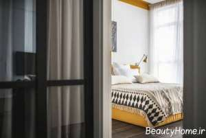 دکوراسیون اتاق خواب با تم طلایی
