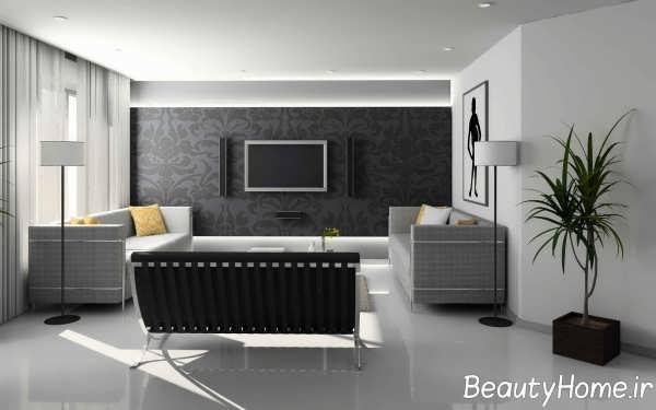 طراحی متفاوت اتاق پذیرایی شیک