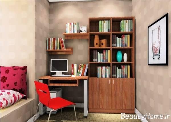 چیدمان مدرن اتاق مطالعه