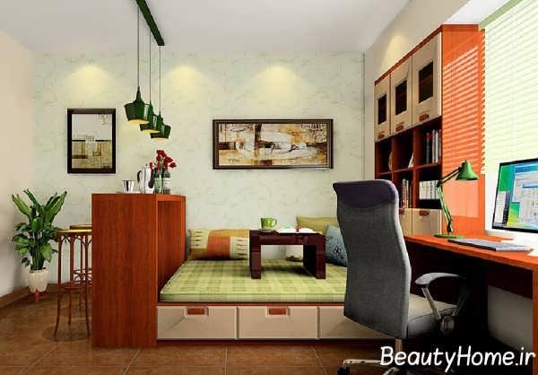 طراحی شیک اتاق مطالعه