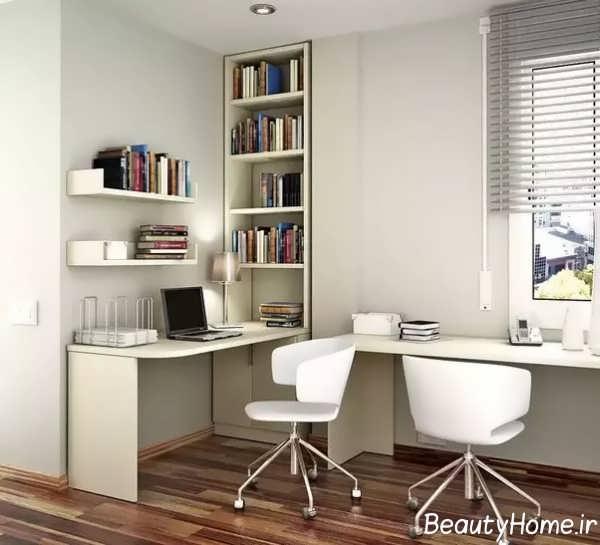 طراحی زیبای اتاق مطالعه