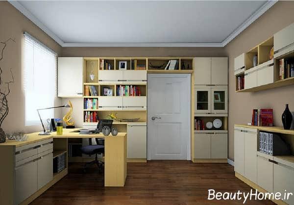 طراحی شیک و ایده آل اتاق مطالعه