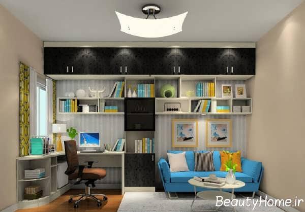 فضای داخلی ایده آل اتاق مطالعه