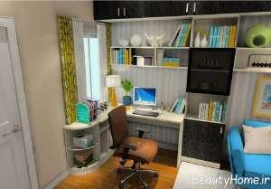 طراحی جالب اتاق مطالعه