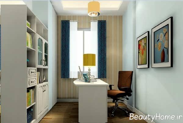 طراحی لاکچری اتاق مطالعه